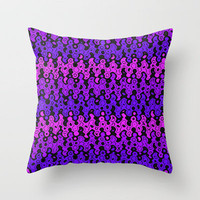 Warped Chevrons Throw Pillow by Lyle Hatch | Society6