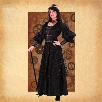 Empire Woman's Steampunk Gown - Size L