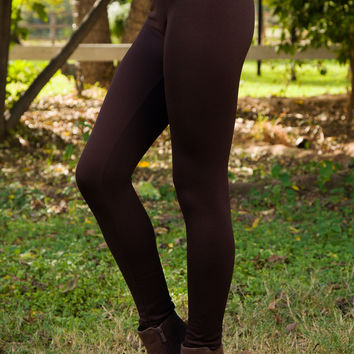One More Leggings - Chocolate
