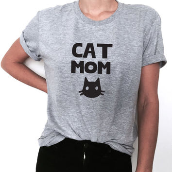 Cat mom Funny T-Shirt T Shirt Tee Womens Ladies Cat Lady Kitty Funny Humor Gift Present Tshirt Cat Lover