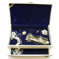 Lady Buxton Jewelry Box Vintage MidCentury Large Jewelry Case with Pullout Drawer