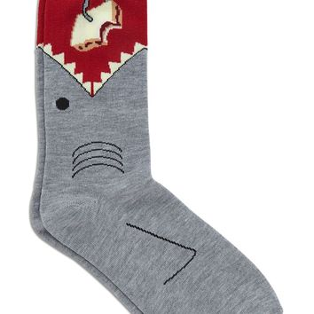 Men Shark Sandwich Crew Socks