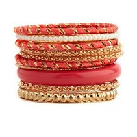 Wrapped Ribbon Bangle Set: Charlotte Russe