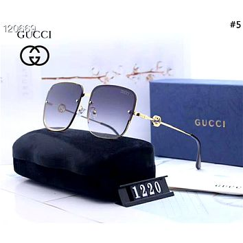 GUCCI new men and women models driving polarized color film large frame sunglasses #5