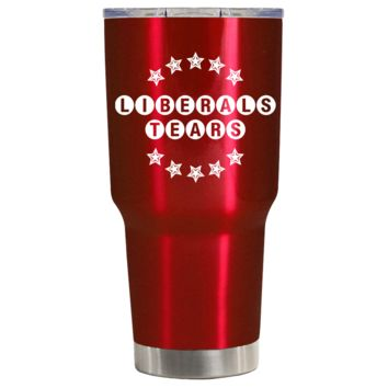 Liberals Tears on Red Translucent 30 oz Tumbler