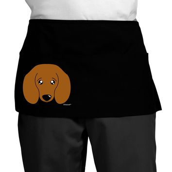 Cute Doxie Dachshund Dog Dark Adult Mini Waist Apron by TooLoud