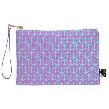 Allyson Johnson Purple Anchors Pouch