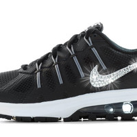Nike Air Max Dynasty- Crystallized Swarovski Swoosh - Black/White