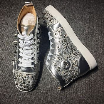 Cl Christian Louboutin Rythinestone Style #1925 Sneakers Fashion Shoes