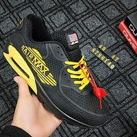 NIKE AIR MAX 90 Trending Men Leisure Running Sport Shoe Sneakers Black Yellow I-CSXY