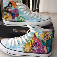 Custom Converse Sneakers, Custom Cartoon Kicks, Unique Birthday Gift or Christmas Gift
