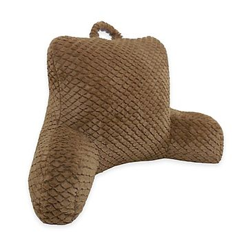 Hemlock Cut Backrest Pillow in Light Brown