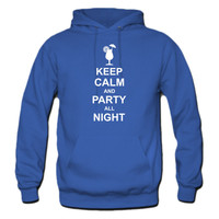Keep Calm and Party All Night Hoodie