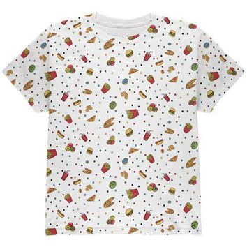 CREYON Junk Food Pattern All Over Youth T Shirt