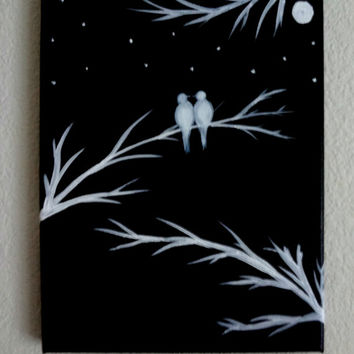 Black and white wall decor #Lovebirds #Valentineday #valentinegift #blackandwhite