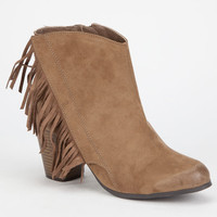 Qupid Sake Womens Booties Taupe  In Sizes