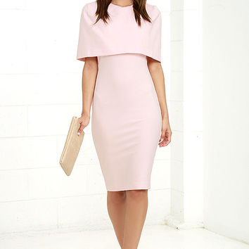 Elliatt Elevate Light Pink Midi Dress