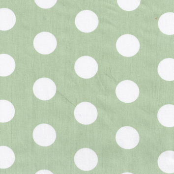 Pixie Baby in Green Polka Dot Fabric by the Yard   100% Cotton