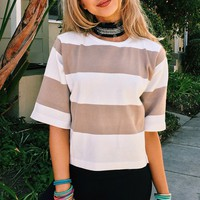 Cupshe All the Stripe Reasons Knitting Casual Top