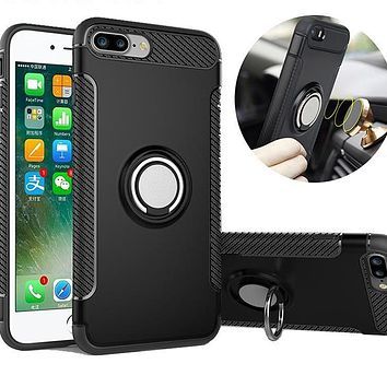 Shockproof Case with Ring Stand for iPhone 8, 8Plus, 7, 7 Plus and 6s Plus