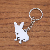 French Bulldog - Metal Keychain