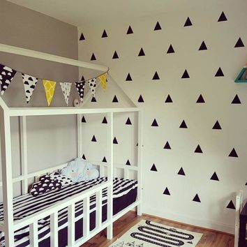 Baby Nursery Triangles Wall Stickers Triangles Wall Decal Children Room Wall Sticker Kids Room Easy Wall Art Home Decoration
