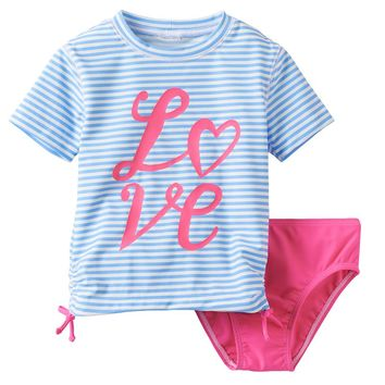 OshKosh B'gosh ''Love'' 2-pc. Rash Guard Swimsuit Set - Toddler