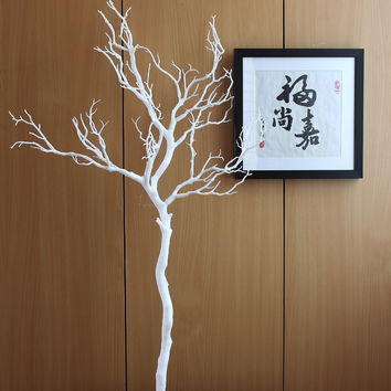 1 PCS Height 70cm or 90cm Artificial Green Blue White Plastic small Tree Dried Branch Plant Home Wedding Decoration Gift