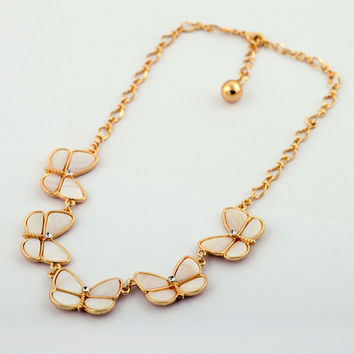 Beautiful Butterfly Necklace Shell Necklace Statement Necklace Bib Choker Necklace Cheap Necklace Jewelry Wholesale For Women