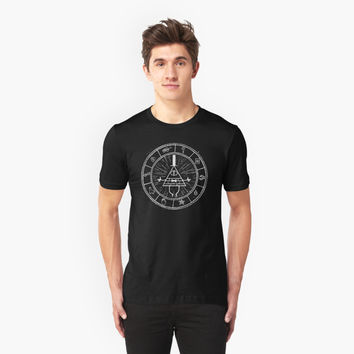 Gravity Falls Bill Cipher - White on Black by TumblrVerse