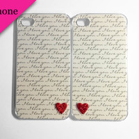 I Love You Tiny Hearts iPhone 5 cases by VanityCases on Etsy