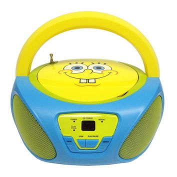 SpongeBob SquarePants CD Boombox with AM-FM Radio