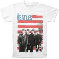 Beatles Men's  Star Spangled Photo T-shirt White Rockabilia