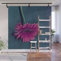 Gerbera for love Wall Mural by vanessagf