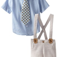 Mud Pie Baby-Boys Newborn Seersucker 3 Piece Set With Tie