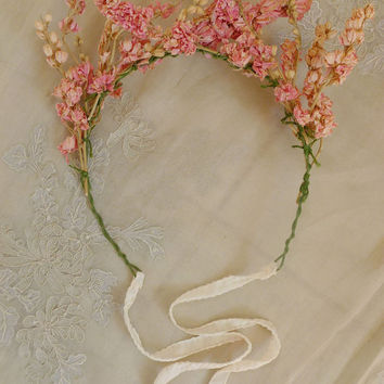 Ethereal Dried Flower Crown Will Fit Any Size.. by jadadreaming