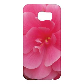 Pink Begonia Floral Samsung Galaxy S6 Cases