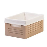 "Storage Bins - Office Desk Organizer with Lots of Room- Easy to Carry- Remarkable Build Quality- Washable Fabric Liner- Fights Odors- Brilliant for Organizing - 8.2"" x 11.4"" x 5.7"" h Beautiful Tan!"