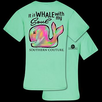 Southern Couture Whale With My Soul Comfort Colors T-Shirt