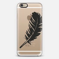 white feather iPhone 6 case by Julia Grifol designs. Surface pattern designer. | Casetify