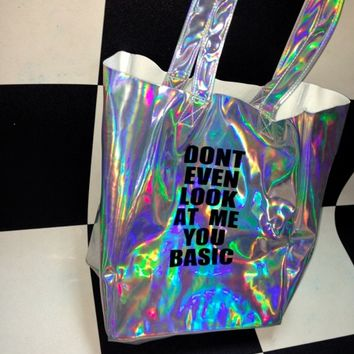 SWEET LORD O'MIGHTY! DONT EVEN LOOK AT ME HOLOGRAM TOTE