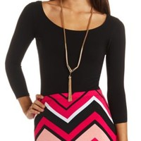 Strappy Lattice-Back Cotton Top by Charlotte Russe