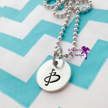 SALE Monogram Pendant Initial Necklace Personalized Necklace Girlfriend Gift Mothers Day Gift Mom Gift Gifts for her