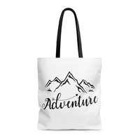 Tote bag Mountain Adventure Travel Tote bag with print Printed bag Mountains Gift ideas Gift for women Gift for mom