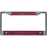 Georgia Bulldogs Glitter Chrome License Plate Frame | UGA Auto Tag Frame | Georgia Bulldogs Auto Tag Frame