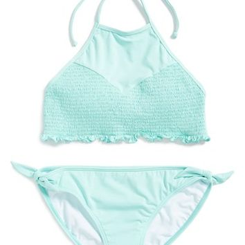 Girl's Billabong 'Sol Searcher' Two-Piece Halter Swimsuit,