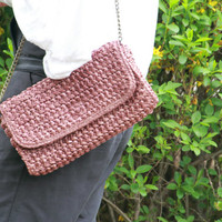 Handwoven mini Shoulderbag /Straw Bag