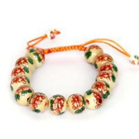 12mm Vintage Style Porcelain Beads Buddhist Wrist Mala Bracelet: Jewelry: Amazon.com