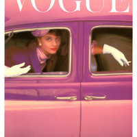 Vogue Cover, Autumn Fuchsia, 1957 Art by Norman Parkinson at AllPosters.com