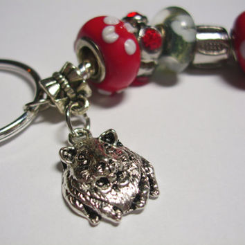 Guinea Pig Key Ring (red)